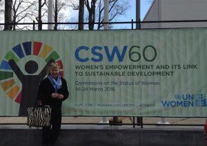 HAN:n jäsen Niini Vartia-Paukku CSW:n kokouksessa New Yorkissa